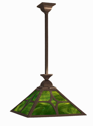 Mission Diamond Design Shade Pendant Ceiling Light (113-MJ1-EP)