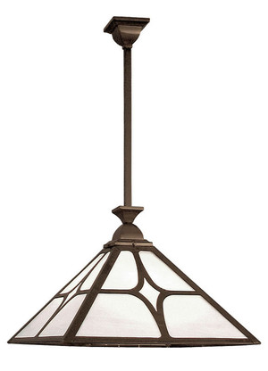 "22"" Wide Mission Rod Hung Ceiling Pendant Light With Diamond Shade (117-GJ1-EP)"