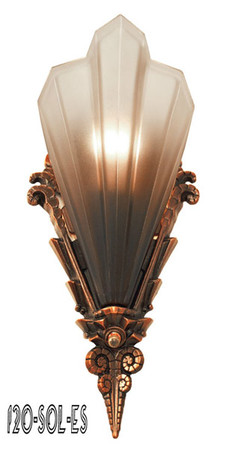 Art Deco Slip Shade Sconces Antique Reproduction Lighting Soleure Series by Mid West (120-SOL-ES)