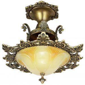 Art Deco Flush Mounted Close Ceiling Light Replica (134-CCL-1L)