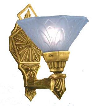 Art Deco Reproduction Wall Sconces Lights Torch Style Lincoln (137-MES)