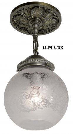 "4"" Fitter Size Close Ceiling Pendant Light (14-PL4-DK)"