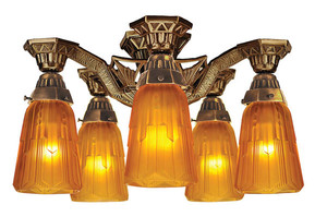 Art-Deco-Flush-Mount-Close-Ceiling-Lighting-5-Light-by-Lincoln-(140-CCL)