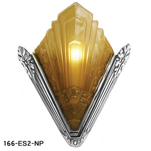 Recreated-French-Marseilles-Art-Deco-Slip-Shade-Sconce-Nickel-Plated-(166-ES2-NP)