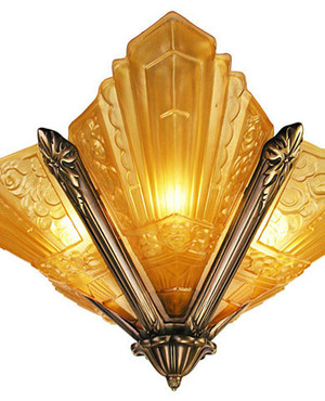 Art-Deco-Chandeliers-Lighting-Flush-Mount-Marseilles-Series-in-Polished-Brass-(167-CH1-PB)