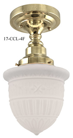 "Close Ceiling Light, Schoolhouse Style with 4"" Fitter (17-CCL-4F)"