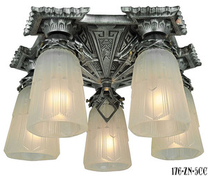 Art-Deco-Chicago-Close-Ceiling-5-Light-Chandelier-(176-ZN-5CC)