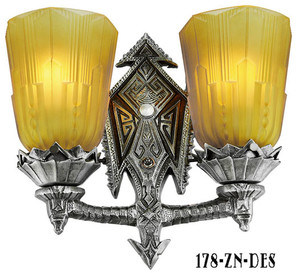 Art Deco Chicago Double Sconce Light (178-ZN-DES)
