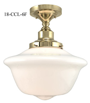 "Close Ceiling Light Schoolhouse Style, Semi-Flush Mount with 6"" Fitter (18-CCL-6F)"