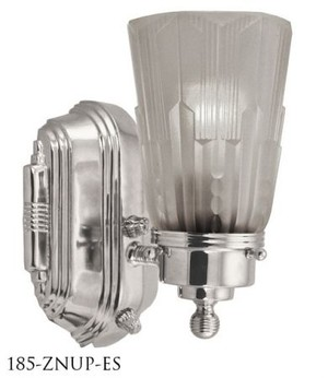 Art Deco Streamline Modern Wall Sconce (185-ZNUP-ES)