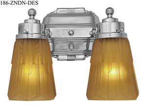 Art Deco Double Sconce Streamline Design (186-ZNDN-0319)