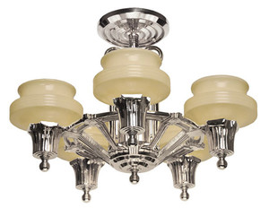 Streamline Modern Art Deco Ceiling Light Chandelier (189-ZNNI-CH)