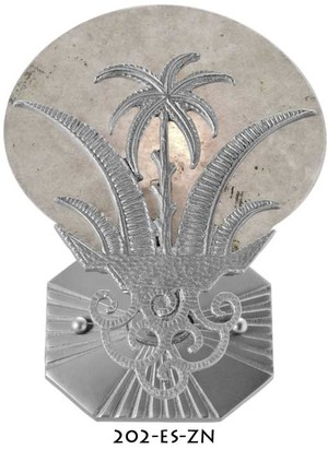 Art Deco Wall Sconces Lighting Tropical Moonlight Palm Tree (202-ES-ZN)