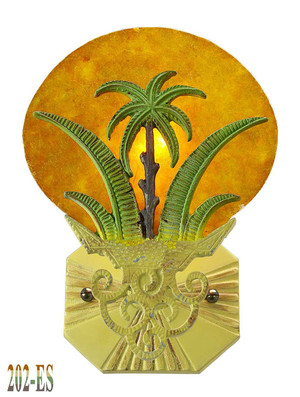 Art Deco Wall Fixtures Sconces Tropical Sunset Palm Tree (202-ES)