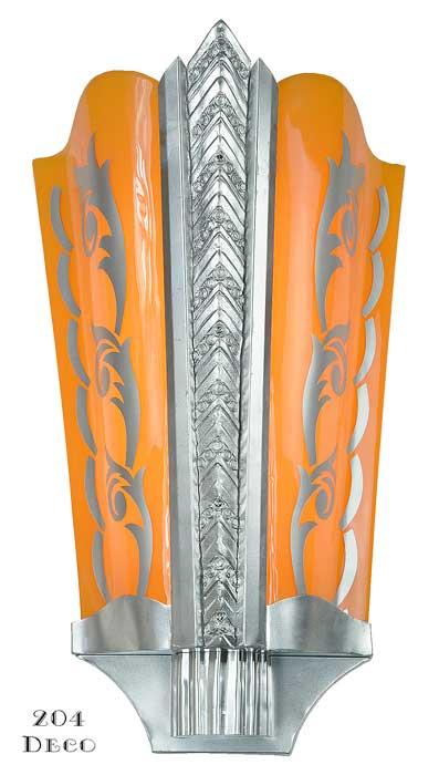 Vintage Hardware & Lighting - Art Deco Wall Sconces Large ...