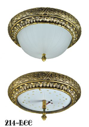 Victorian or Edwardian Close Ceiling Light Flush Mount 15W LED Bowl (214-BCC)