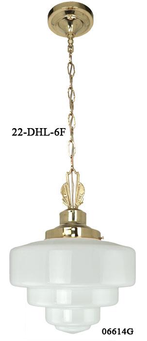 vintage hardware lighting art deco school house pendant light