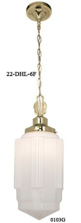 "Art Deco School House Pendant Light - No Shade - 6"" Fitter (22-DHL-6F)"