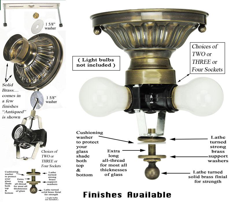 222 series close ceiling light mounting kit 222 2l pb. Black Bedroom Furniture Sets. Home Design Ideas