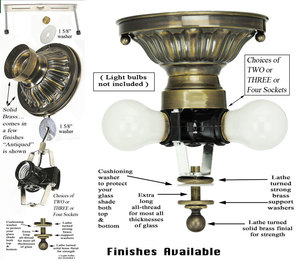 vintage hardware lighting stem and ceiling kits fitters and