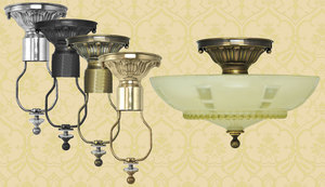 Antique-Glass-Ceiling-Bowl-Light-Fixture-(ANT-814)