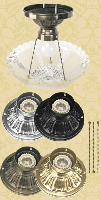 Vintage Hardware & Lighting - Antique Glass 3 Chain Ceiling Bowl ...