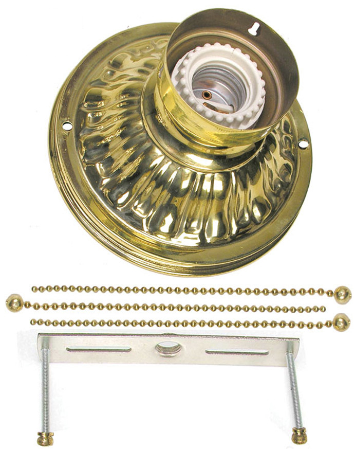 Vintage Hardware Amp Lighting Chain Mount Ceiling Bowl Kit