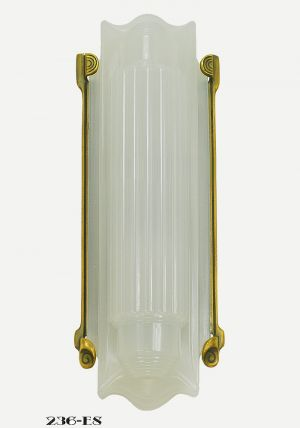 Art Deco Wall Sconce Recreated 1930s Lightolier Luxart Light Fixture (236-ES-DK)