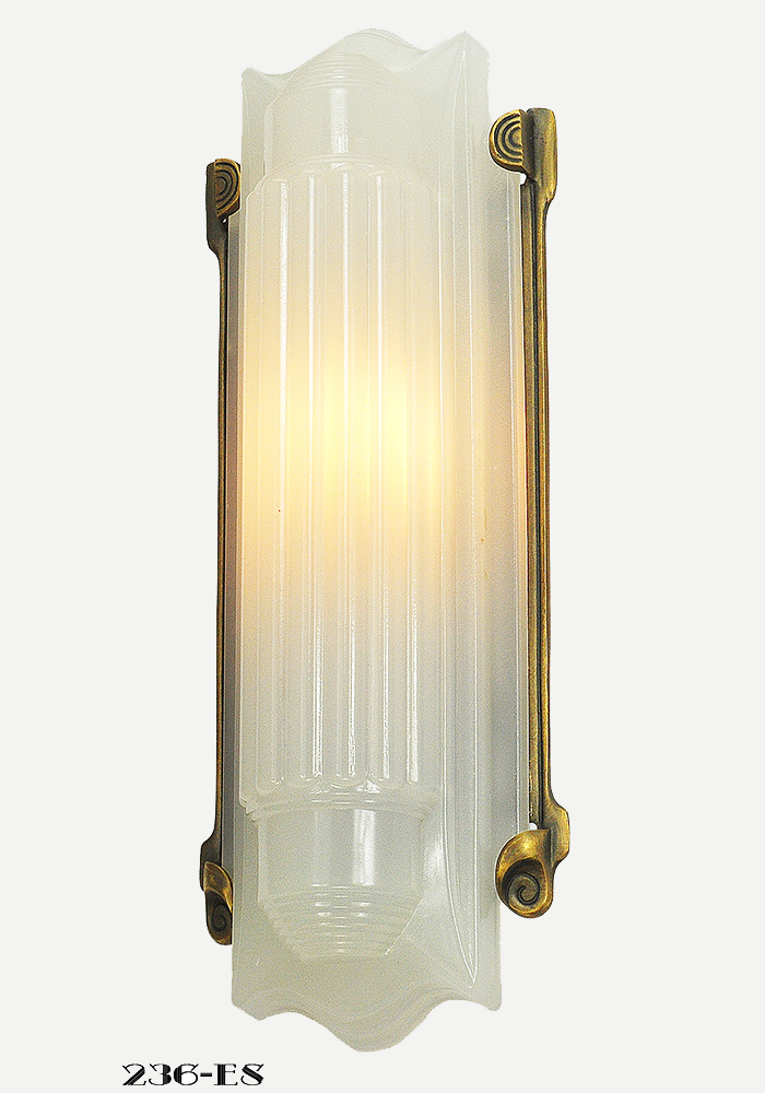check out e706b 38c87 Art Deco Wall Sconce Recreated 1930s Lightolier Luxart Light Fixture  (236-ES-DK)