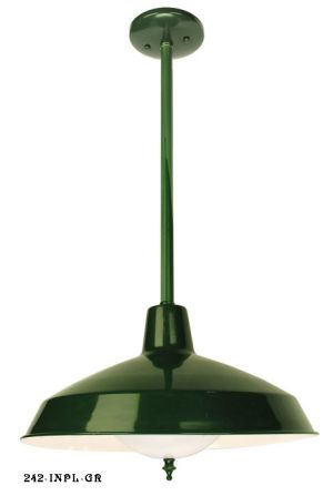 Green Finish Barn or Commercial Shop Light (242-INPL-GR)