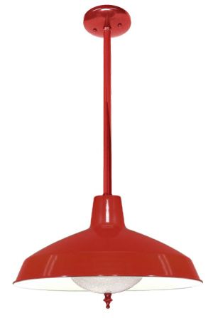Red Finish Barn or Commercial Shop Light (242-INPL-RD)