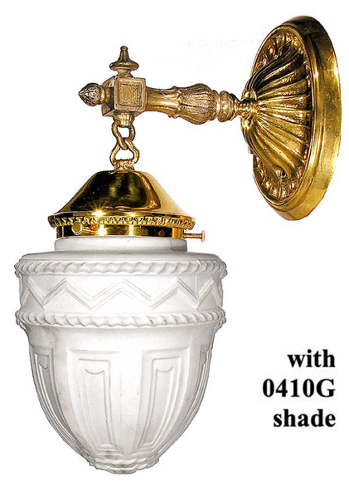 Antique Replica Wall Sconces : Vintage Hardware & Lighting - Edwardian Wall Sconce, Reproduction from Circa 1910 Design (27-ES-PB)
