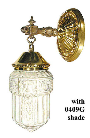 Edwardian Wall Sconce, Reproduction from Circa 1910 Design (27-ES-PB)
