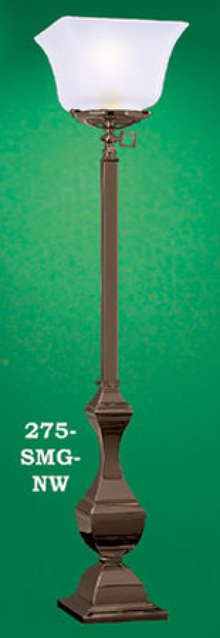 Gas Mission Style Monogas Newel Post Light (275-SMG-NW)