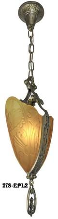 Art Deco Chandeliers Fixtures Slip Shade Meval Family 5 Light Chandelier 279 5ll1