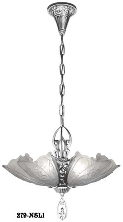 Art-Deco-Chandeliers-Fixtures-Slip-Shade-Medieval-Family-5-Light-Chandelier-(279-5LL1)