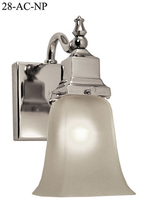 Arts-and-Crafts-Petite-Single-Wall-Sconce-Nickel-Plated-(28-AC-NP)