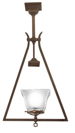 Gas Mission Ceiling Pendant Hall Light Circa 1890 (280-MSG-HL)