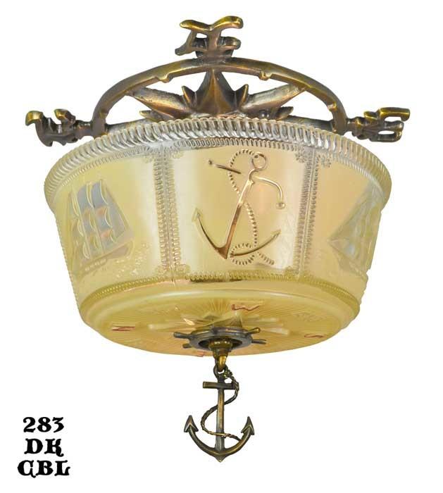 Nautical Shade For Vintage String Lights: Vintage Hardware & Lighting