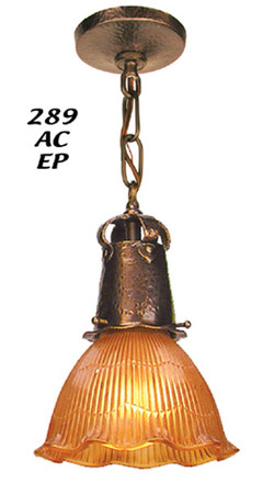 Recreated J Morgan Arts & Crafts Pendant Light 2 1/4