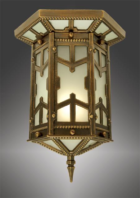 Vintage hardware lighting arts crafts san simeon for Arts and crafts flush mount lighting