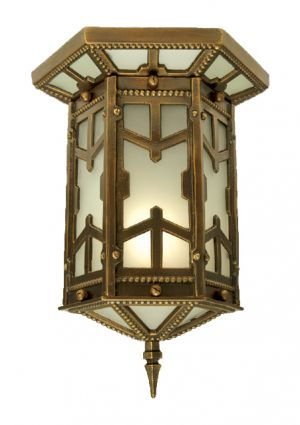Arts & Crafts San Simeon Flush Mount Close Ceiling Light (290-CCL-AC)