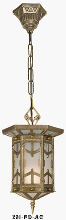 Outdoor Arts & Crafts Arts & Crafts San Simeon Hanging Pendant Lamp (291-PD-AC)
