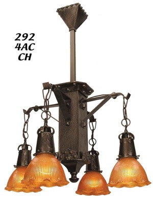 "J Morgan 4 Light Chandelier 2 1/4"" Fitter (292-4AC-CH)"
