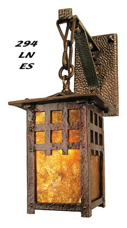 J Morgan Single Lantern Arts & Crafts Sconce (294-LN-ES)
