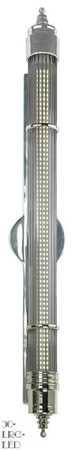 "Art Deco Streamline LED Sconces 30"" Large Energy Saving Wall Lighting (30-LRG-LED)"