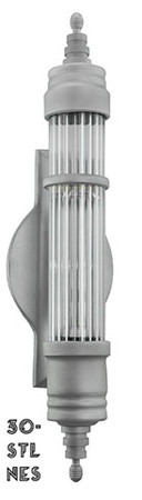 "12"" Art Deco Streamline Tubular Wall Sconces Lighting (30-STL-NES)"