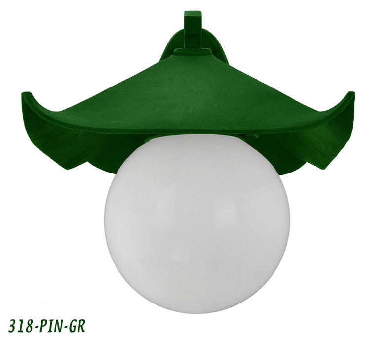 Porch Light Green: Historical-Japanese-Green-Pagoda-Porch-Light-C1914-(318