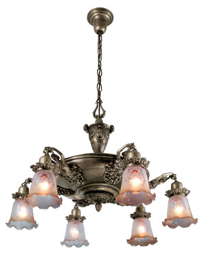 Figural Victorian Pan Light With Maidens (335-EPC-AC)