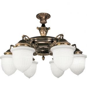 Victorian Close Ceiling Chandelier (335-CCL-FP)